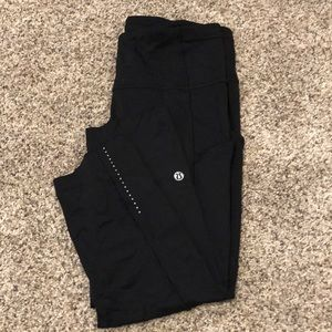 lululemon athletica Pants - Lulu High Waisted Crop Leggings In 8